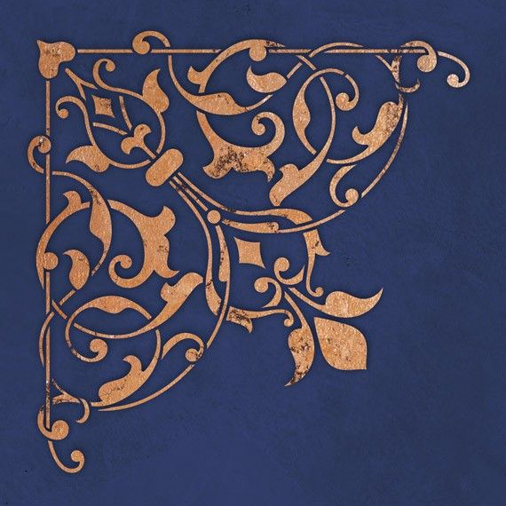 Arabesque Corner Stencil for Wall Decor and by royaldesignstencils---so elegant and regal