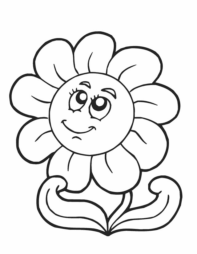 spring flowers coloring pages spring flower free printable coloring pages - Drawing And Colouring Pictures For Kids