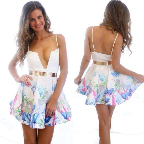 #backless #fashion #open back dress>>> http://pgfancy.bigcartel.com/product/grxjy56003098-sexy-backless-deep-v-neck-floral-print-sling-dress