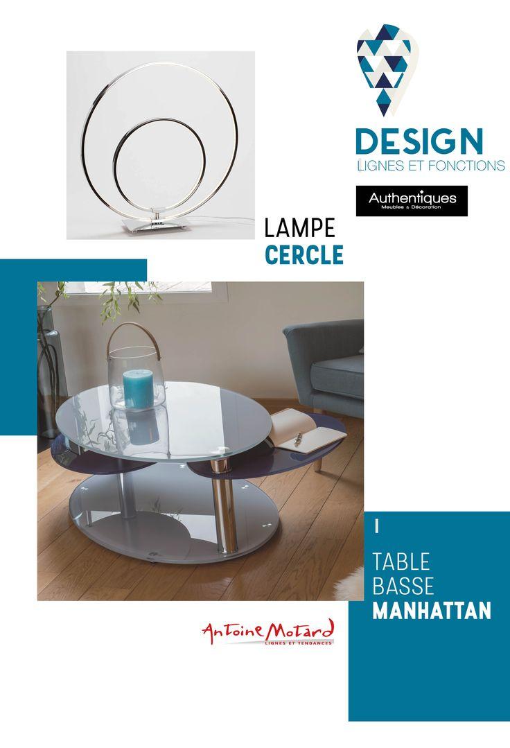 Table basse modulable @antoinemotard Dessus verre trempé 12 mm, 2plateaux annexes pivotants verre trempé 10 mm. Pied  métal finition chromé, base verre trempé 12 mm. (2039683) 100xH35x65 cm #Authentiques #design #tablebasse