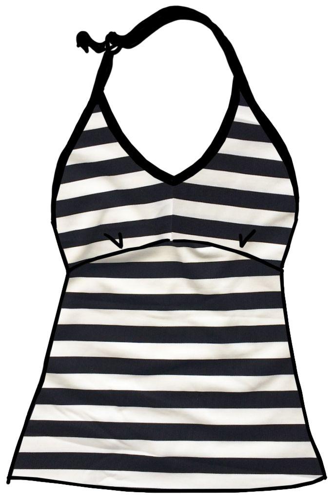 Striped Swimwear Halter Tank | Thunderpants NZ