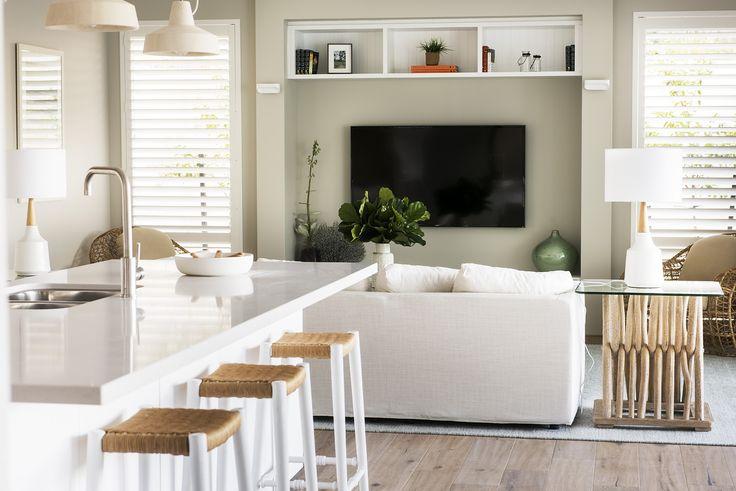 Main living area in The Islander display home by Webb & Brown-Neaves.