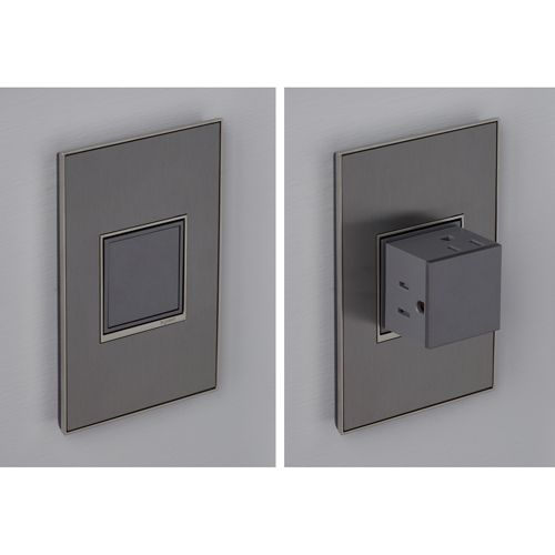 Magnesium Pop Out 1 Gang Outlet Legrand Adorne Outlets Dimmers & Controls Lighting Accesso