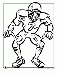small football coloring pages - photo#21