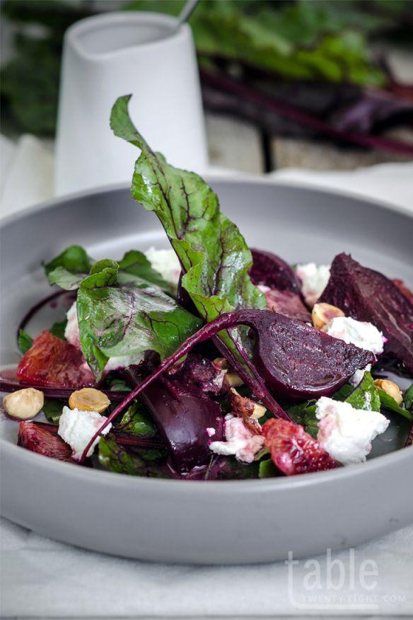 beetroot salad with blood orange dressing   table twenty eight