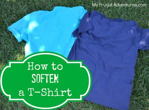 Easy tip to get thick, itchy t-shirts to feel much softer.  Perfect for team shirts, volunteers, camp and more!  Pin now and save for when you need it!
