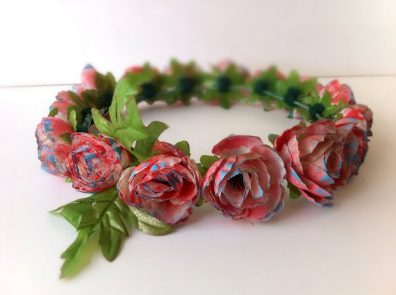IFgal Vintage camellia floral crown headband summer hit collection on Etsy, $30.00