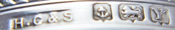 Silver Napkin Ring Narrow Diamond Shape Engine Turned e