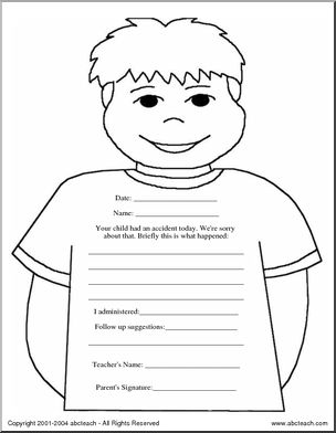 Note: Accident Report Form - [member-created with abctools] Form for teachers or school staff to report school accidents to parents.