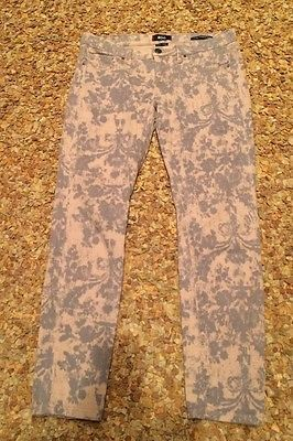 BDG Urban Outfitters Jeans Gray Pink Mid Rise Cigarette Ankle Size 29