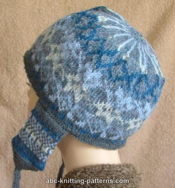 Free Fair Isle Knitting Patterns Hats : ABC Knitting Patterns - Fair Isle Earflap Hat - free BONNETS et autres - HA...