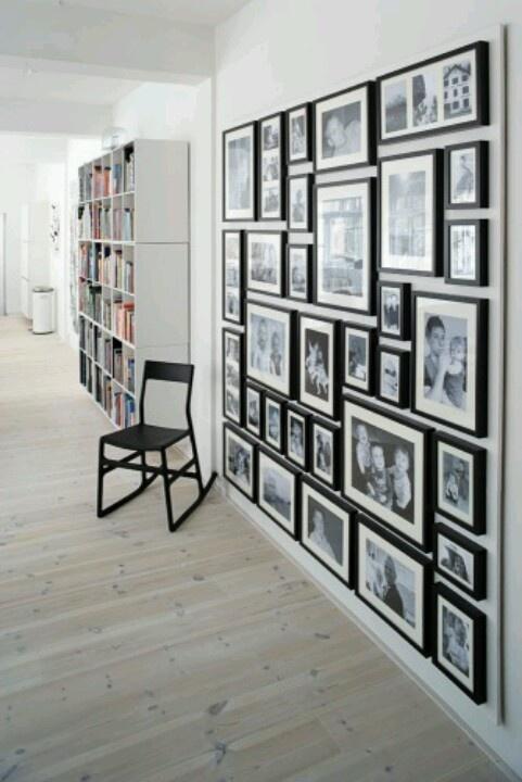 Fotowand verhuisidee n pinterest photo walls design - Pinterest fotowand ...