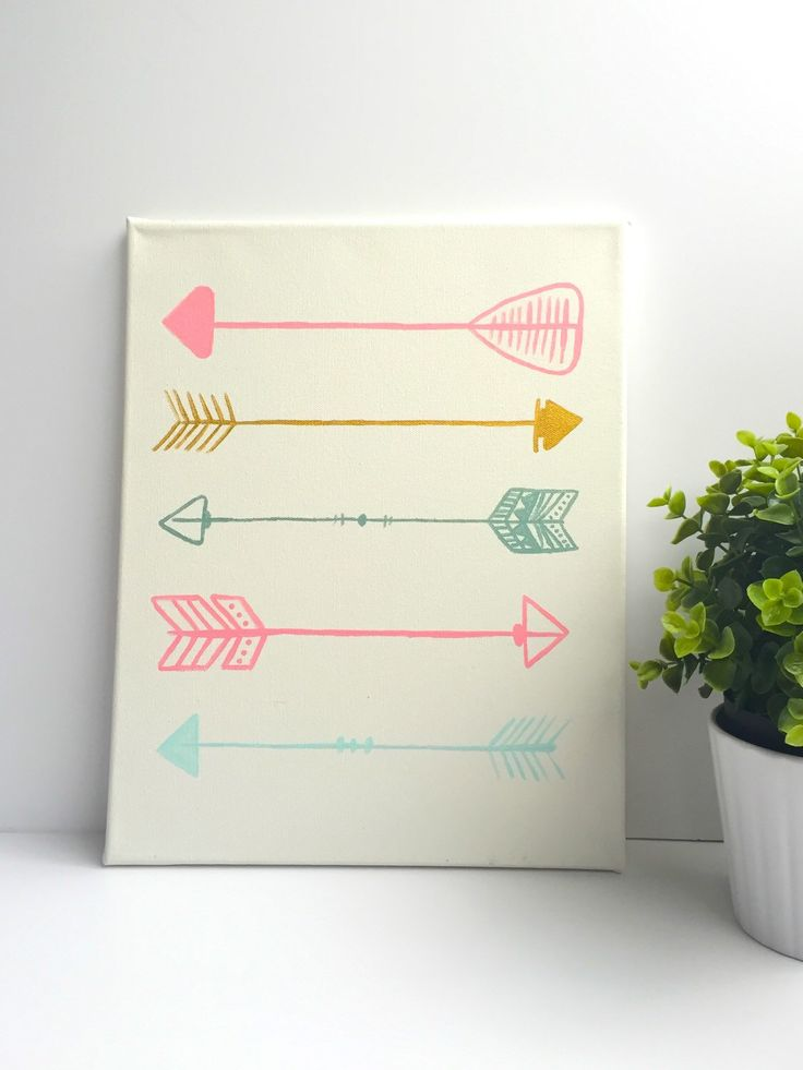 Arrow Nursery Art-Hand-painted-Mint-Pink-Gold-Modern Nursery-Wall Art-Canvas Art-Baby Girl-Baby Shower Gift by AlexAndAudrey on Etsy https://www.etsy.com/listing/230927208/arrow-nursery-art-hand-painted-mint-pink