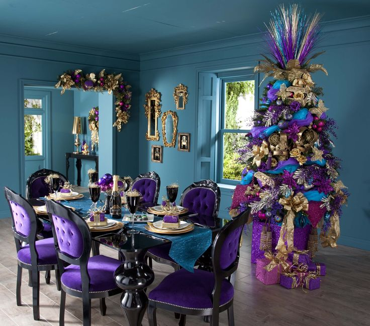 709 best decor purples violets images on pinterest for Purple dining room decorating ideas