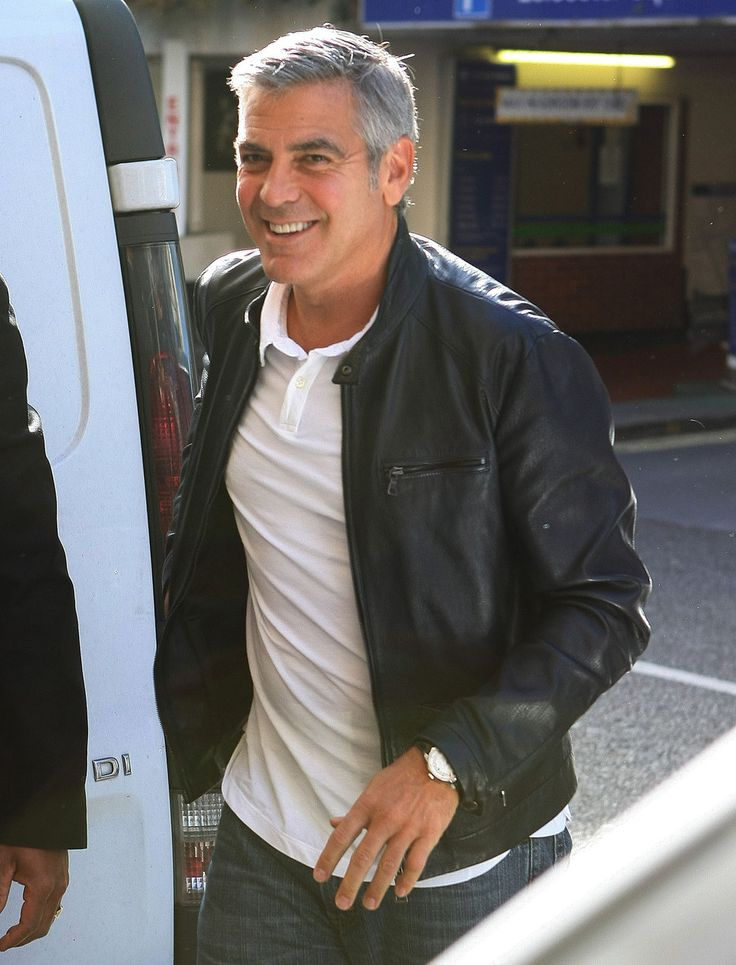 george clooney style - add to my collection. Love the different photos, poses of this actor.