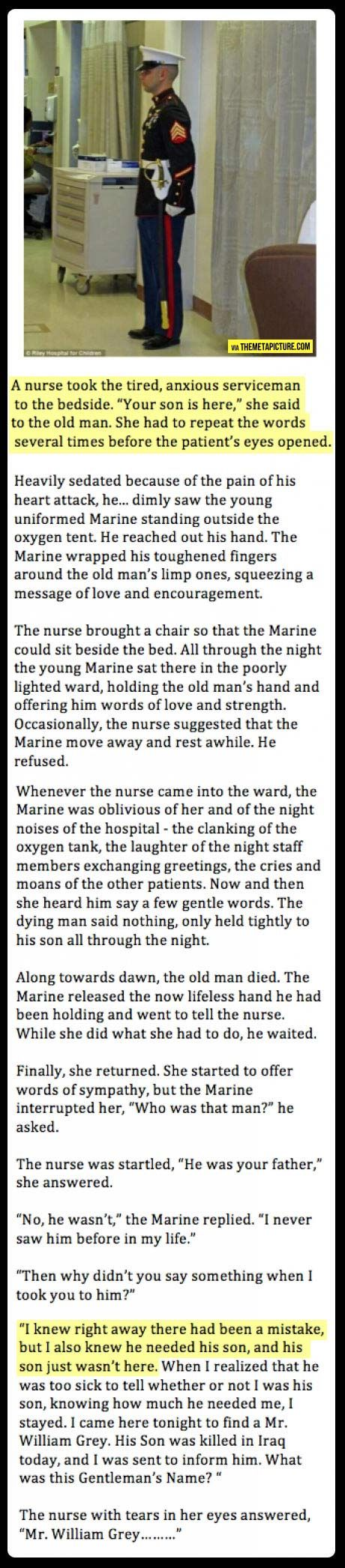 Wow…Don't know if this is true, but if you've sat and held a loved one's hand while s/he passed, you'll relate...