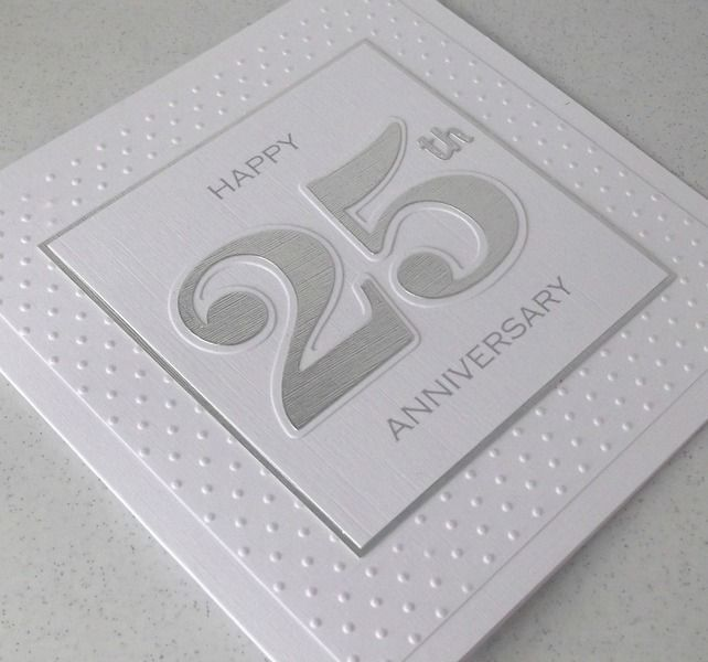 25th anniversary card £4.00 from Paper Daisy Cards 2 on Folksy