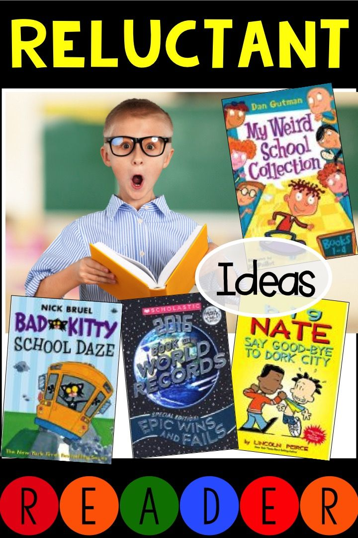 Great books for reluctant readers!