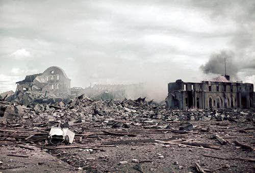 Ruins of Viipuri Train Station, destroyed by Russia   Viipurin aseman rauniot. Viipuri