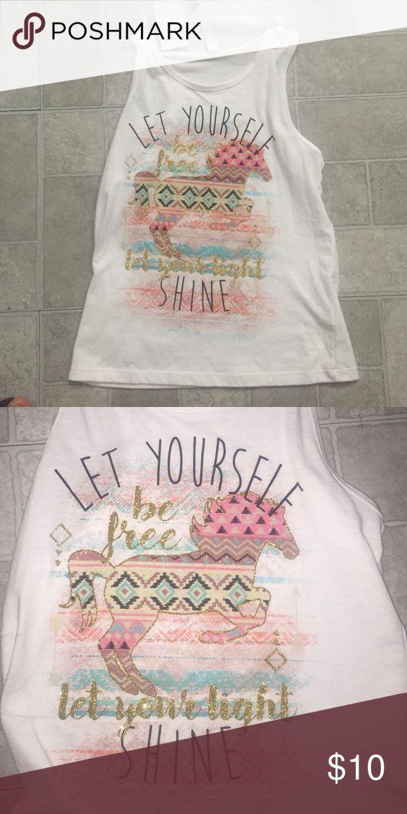 Girls Cute tank top Girls cute tank top new with tags , just bought but lost Reciept Knitworks Shirts & Tops Tank Tops