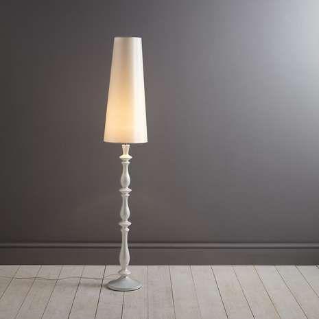 Boudoir Turned Wooden Floor Lamp | Dunelm