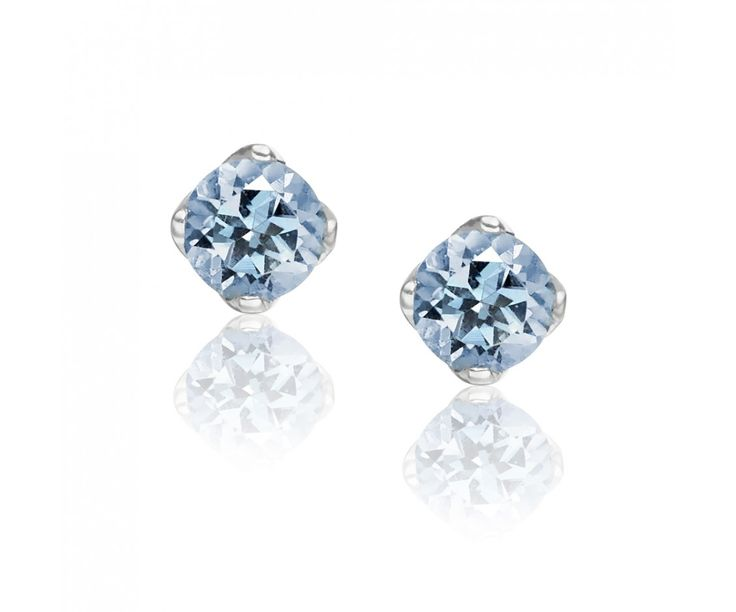 The graceful hues of aquamarine sparkle with this pair of stud earrings from our Lief Collection of gemstone jewellery.