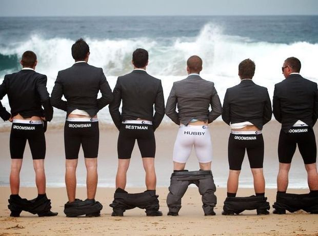 Take funny pictures with the groomsmen | Community Post: 18 FABULOUS WAYS TO HAVE A UNIQUE GAY WEDDING