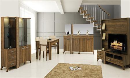 -Time modern yemek odası içerisinde gümüşlük, konsol, tv sehpası, masa ve 6 sandalye bulunmaktadır. -Kolay kullanılan ve fonksiyonel özelliklere sahip bir takımdır.