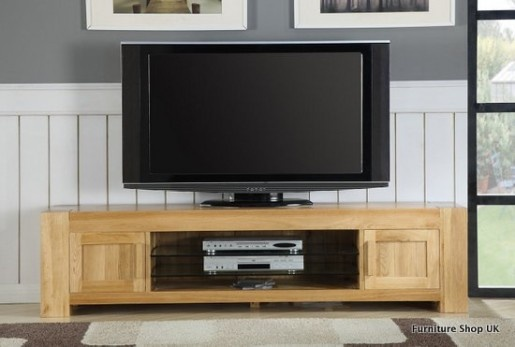Oslo Solid Oak Large Plasma Unit in Natural Finish