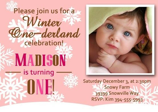 15 best winter onederland birthday invitations images on pinterest, Party invitations