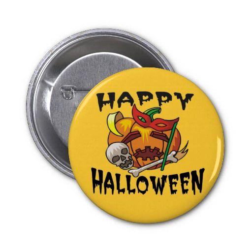 Halloween Party Pumpkin Button #halloween