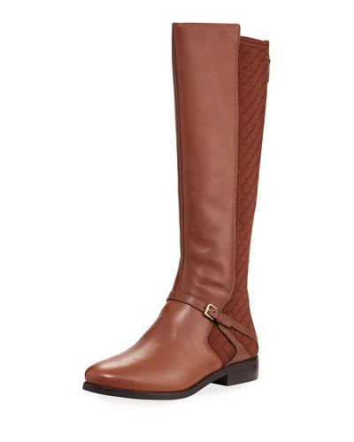 Imogene Quilted Mid-Calf Boot, Brown
