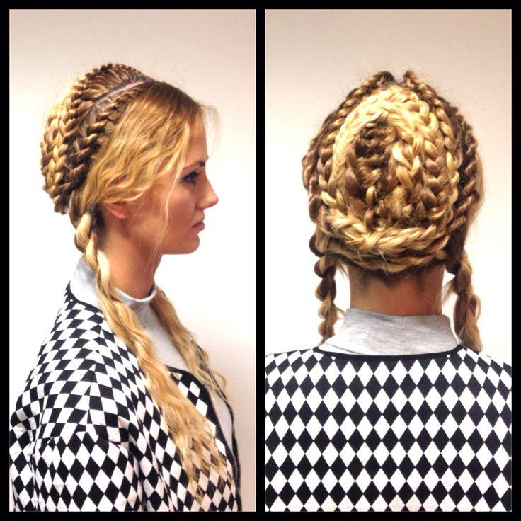 My demo model for Loreal long hair workshop #braids ❤️