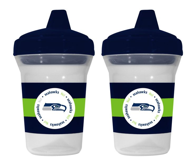 Seattle Seahawks Team Spirit Sippy Cups, Set of 2