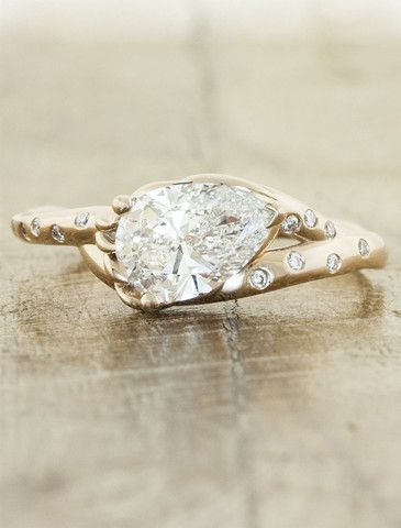 This would be cool without the side diamonds and white gold....Tanya September 2013 | Ken & Dana Design
