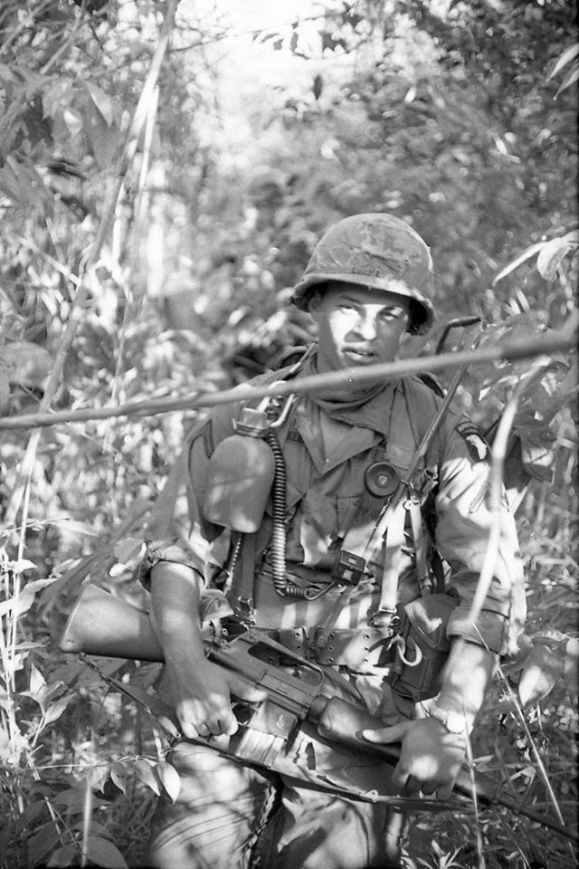 A photo of Jimmy Locklear of North Carolina, taken in 1968. He was an RTO with the 101st Airborne Division, and was killed on September 7th, 1968. He was trying to save a friend, and was shot 3 times from an AK-47. Jimmy did not die right away, it took him about 20 minutes to pass, all the while with Sergeant Simone holding his head above the ground. Jimmy died of a head wound that day, and he died peacefully. Courtesy of a veteran who knew Jimmy.