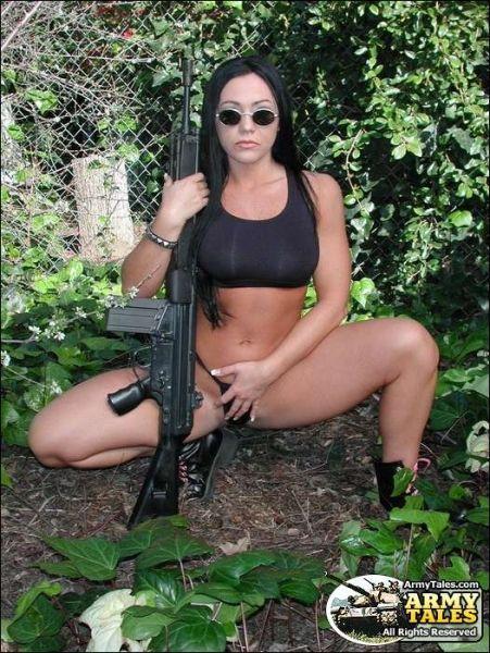 hot naked girls with airsoft guns