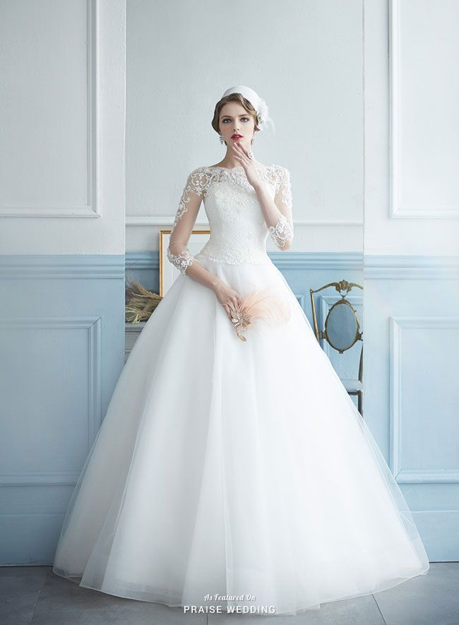 Chaesooa Wedding takes dreamy to a new level with this angelic white lace bridal gown!