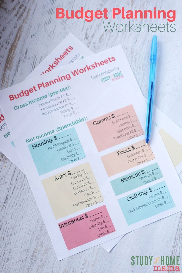Budget Planning Worksheets - a free printable to help get your finances in shape. Includes a planner and a year long overview, as well as a Google spreadsheets version you can update whenever you want!