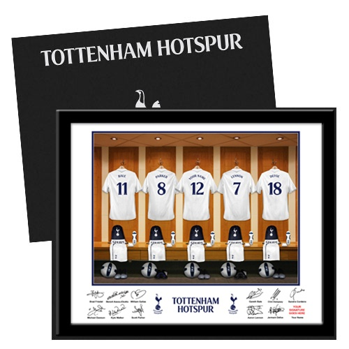 Tottenham Hotspur Dressing Room Print in Folder