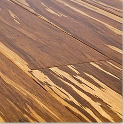 Glueless Click Bamboo Floor Strand Woven Tiger Floor