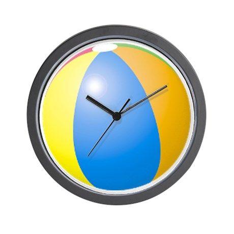 big beach ball Wall Clock on CafePress.com