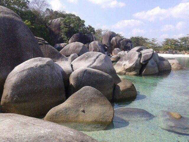 Batu Granit  Pantai Tanjung Tinggi @ belitung Indonesia