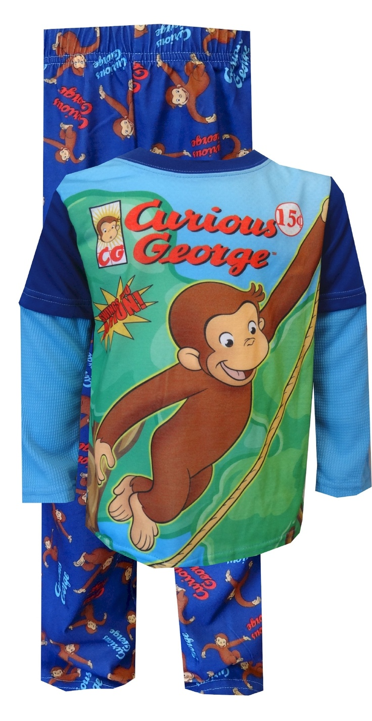Krafty kidz center curious george coloring pages - Curious George Swings Into Action Pajama 20 Get Ready For A Swinging Time These Flame Resistant Pajamas For Boys Feature A Smiley Curious George Swinging