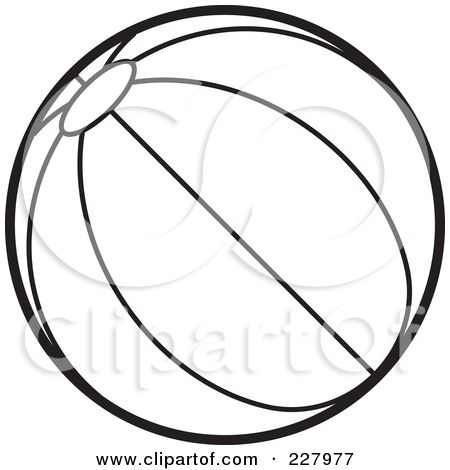 Beach Ball Outline Images