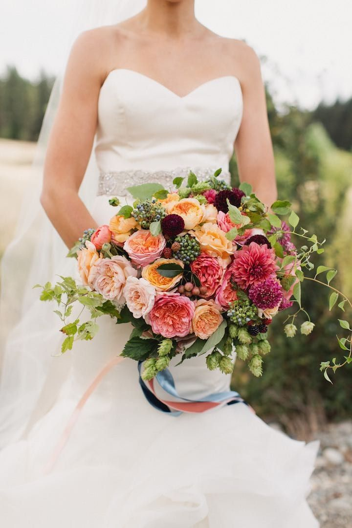 163 Best Coral Peach Wedding Bouquets Images On Pinterest