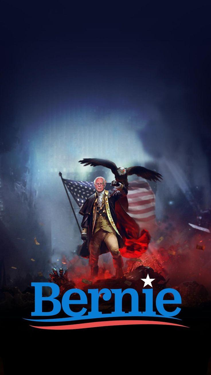 Bernie Sanders Feel The Bern MOBILE Wallpaper by