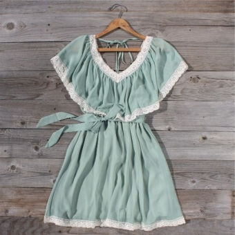 Mint Whisper Dress...  such a pretty romantic dress!  Would be super cute with tall platform sandals...