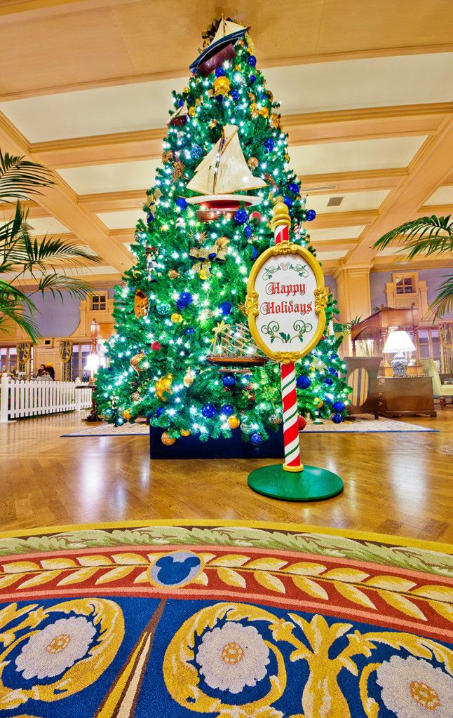 The trees are now all up at Walt Disney World's resort hotels!
