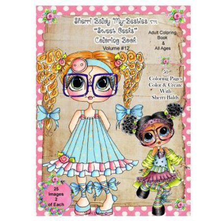 Sherri Baldy TM My Besties Sweet Geeks Coloring Book